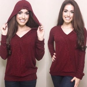 Extra soft hoodie hacci sweater knit
